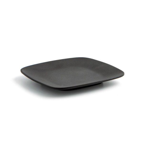 mini plato cuadrado negro